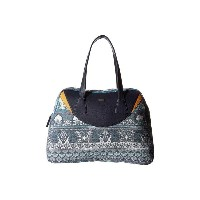 ロキシー Roxy レディース バッグ トートバッグ【Havana Spirit Handbag】Dress Blue Ax Hippie Hop Border