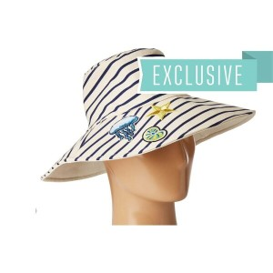 ハットアタック Hat Attack レディース 帽子 ハット【Reversible Sun Hat w/ Nautical Patches】Jellyfish/Star/Seashell