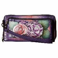アヌシュカ Anuschka Handbags レディース バッグ クラッチバッグ【1111 RFID Blocking Zip-Around Clutch Wallet】Lush Lilac