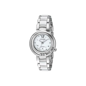 シチズン Citizen Watches レディース アクセサリー 腕時計【EM0320-83A Sunrise】Silver Tone Stainless Steel