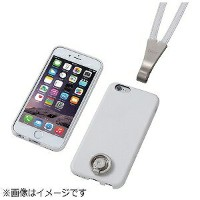 DEFF iPhone 6用 Multi Function Design Caes & Neck Strap DCS‐MI6PLSWH ホワイト