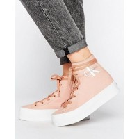Calvin Klein Jeans パンツ Zabrina Blush Canvas Hi Top Trainers