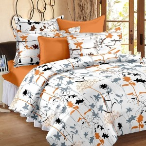 100% Cotton 1 Double Bedsheet With 2 Pillow Cover