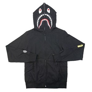 A BATHING APE ア ベイシング エイプ 17SS 2ND SHARK FULL ZIP HOODIE シャークパーカー 黒 L