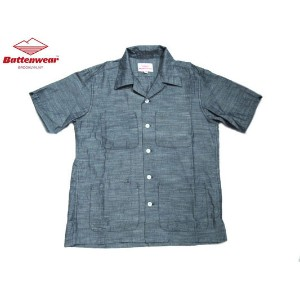 【期間限定30%OFF!】BATTEN WEAR(バテンウェア)FIVE POCKET CHAMBRAY ISLAND SHIRTS/blue【東水着】