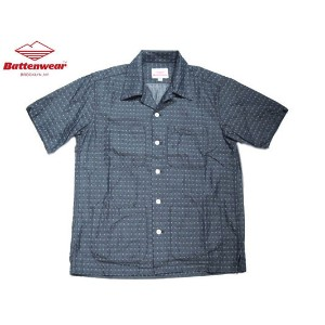【期間限定30%OFF!】BATTEN WEAR(バテンウェア)FIVE POCKET DOBBY CHAMBRAY ISLAND SHIRTS/indigo【東水着】