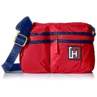Tommy Hilfiger Nylon Camera Convertible Cross Body Red One Size