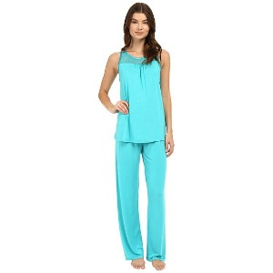 Midnight by Carole Hochman Pajama with Geo Mesh Lace