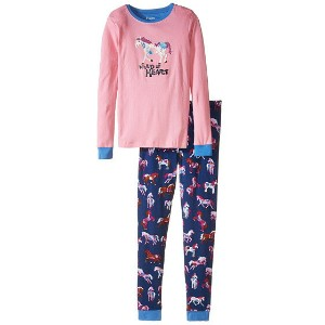 【ポイント2倍!6/22 1:59まで】Hatley Kids Horses & Flowers PJ Set (Toddler/Little Kids/Big Kids)
