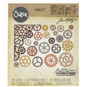 Ellison Sizzix Gearhead Thinlits Die Set by Tim Holtz by Sizzix
