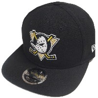 New Era NHL Anaheim Ducks Black Snapback Cap Original Fit M L 9fifty