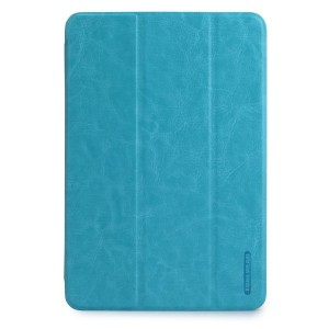 【日本正規代理店品】TUNEWEAR LeatherLook SHELL with Front cover for iPad mini (3/2/第1世代) パウダーブルー TUN-PD-100055