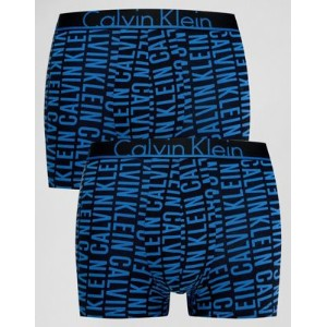 【ポイント2倍!5/29 9:59マデ】Calvin Klein Trunks 2 Pack ID Cotton