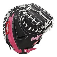 Rawlings(ローリングス)軟式グラブ(グローブ)用 ローリングスゲーマーDPリミテッド [キャッチャー用] GR6FGL2AF ブラック/ダークピンク LH(Right hand throw)...