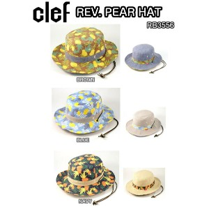 clef クレ REV. PEAR HAT RB3556 BROWN BLUE NAVY リバーシブル アドベンチャー ハット 帽子 正規品