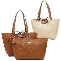 ゲス バッグ GUESS VG642235 BOBBI SMALL INSIDE OUT TOTE トートバッグ COGNAC MULTI