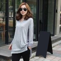 [zoozoom] Chiffon coloring collar blouse 2color / 16779