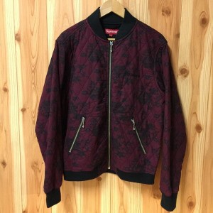 SUPREME シュプリーム quilted lace bomber jacket キルト レース ボンバー ジャケット JKT 17SS 17春夏 RED レッド 赤 Mサイズ 古着屋NEXT貝塚店...
