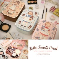 [Made In Korea][Brand NEW] Afrocat Paper Roll Mate Better Beauty Pouch M Cosmetics Make Up Bag Case