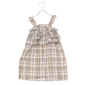 【SALE 10%OFF】コムサイズム COMME CA ISM チェックワンピース (カーキ)