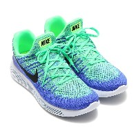 NIKE LUNAREPIC LOW FLYKNIT 2 (ナイキ ルナエピック ロー フライニット 2) ELECTRO GREEN/BLACK-MED BLUE-PARAMOUNT BLUE...