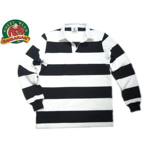 BARBARIAN(バーバリアン)/L/S RUGBY JERSEY/black x white