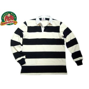 BARBARIAN(バーバリアン)/L/S RUGBY JERSEY/black x ivory