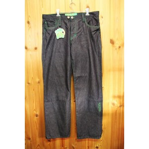 【seedleSs】シードレス【new lowrise just fit straight season #2】IND GRN Stitch 1 Wash XLsize(36inch)【デニム...