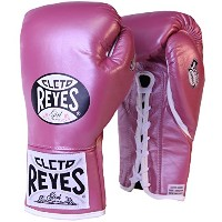 Cleto Reyes レディース Safetec Professional Boxing Fight グローブ-10 oz-ピンク メタリック (海外取寄せ品)