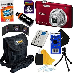 Nikon COOLPIX A100 20.1 MP デジタル Camera with 5x Zoom レンズ & 720p HD ビデオ (Red) - International Version...
