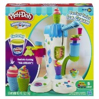"""Play-Doh Perfect Twist Ice Cream Playset (MFG Age: 6 years and up)(?Crank out realistic-looking """""""