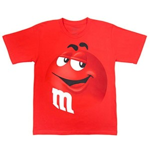 m&m's ADULT TEE(RED)アダルト Tシャツ(レッド)