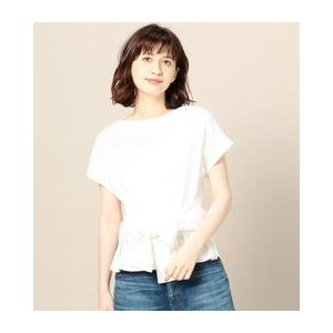 BY ウエストリボンフレンチスリーブカットソー【ビューティアンドユース ユナイテッドアローズ/BEAUTY&YOUTH UNITED ARROWS Tシャツ・カットソー】