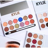 New Kylie Jenner 12 colors Eyeshadow palette with pen Royal Peach Palette Kyshadow