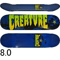 CREATURE クリーチャー スケボー スケートボード デッキ Stained SM Blue Team 8.0inch