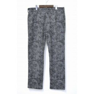 【中古】 ENGINEERED GARMENTS (エンジニアードガーメンツ) Cinch Pant - Grey Printed Flannel / Floral シンチ パンツ...