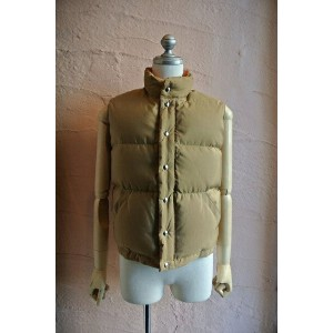 "★CRESCENT DOWN WORKSクレセントダウンワークス★CRESCENT DOWN WORKS x BIGSHOT『Italian Vest』""TAN x RUST""60..."