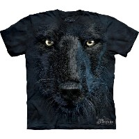 【THE MOUNTAIN】【動物 顔 Tシャツ】(黒き狼) Black Wolf Face