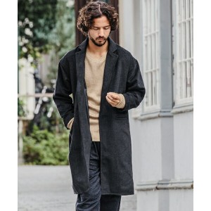 【CAMBIO(カンビオ)】Drop Shoulder Wool Wide Chester Field Coat コート