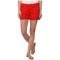 Blank NYC Red Shorts ショーツ with Rip in Crimson Wave