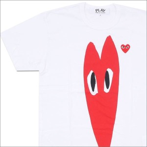 PLAY COMME des GARCONS (プレイ コムデギャルソン) Elongated RED HEART TEE (Tシャツ) WHITE 200-007094-050x【新品】