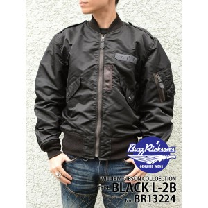 "【BUZZ RICKSON'Sバズリクソンズ】フライトジャケット/WILLIAM GIBSON COLLECTION BLACK L-2B ""REGULAR PATCH MODEL""★送料..."