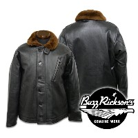 【Buzz Rickson's バズリクソンズ】ジャケット/BR80359 Type BLACK LEATHER N-1★送料・代引き手数料無料!REAL DEAL