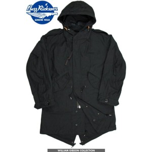 "BUZZ RICKSON'S/バズリクソンズPARKA-SHELL Type BLACK M-51 PARKA SLENDER""William Gibson Collection""ウィリアム..."