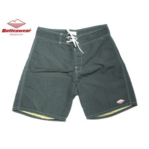 【期間限定30%OFF!】BATTEN WEAR(バテンウェア)BOARD SHORTS/dark olive x beige【東水着】