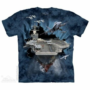 The Mountain Tシャツ Aircraft Carrier (軍隊 航空機 メンズ 男性用 男女兼用) S-L【輸入品】半袖