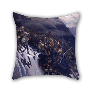 Slimmingpiggy 18 X 18 Inches / 45 By 45 Cm Oil Painting Vasily Surikov - Suvorov Crossing The Alps...