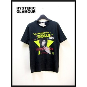 M 黒 BLACK【HYSTERIC GLAMOUR [ヒステリックグラマー] NYD/LOOKING FOR A KISS pt Tシャツ】0253CT12
