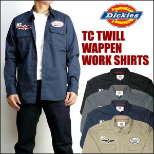 Dickies (ディッキーズ) TCツイル ワッペン ワークシャツ/MOTORCYCLE 163M20WD05 【送料無料】 mtl-shプレゼント ギフト