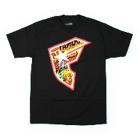 FAMOUS SAS Tシャツ COMIC F 黒 (フェイマス)(FAMOUS STARS AND STRAPS)